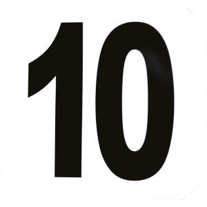 Hindernisnummern, 12er Zahlenaufkleber-Set