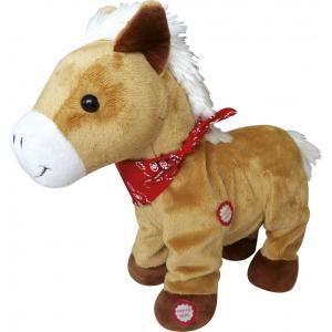 Peluche poney marchant / hennissant.