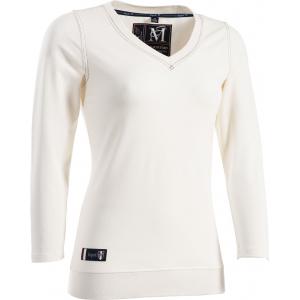 "EQUIT'M ""E.L."" jersey t-shirt, met V-hals en ¾ mouwen"