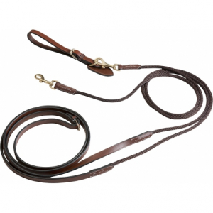 Éric Thomas Leather/cord draw reins
