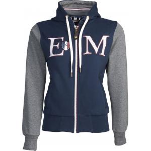 """Equit'M"""" Katoenen sweatshirt met rits en capuchon"""