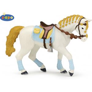 Cheval de la cavalière adulte fashion bleue Papo