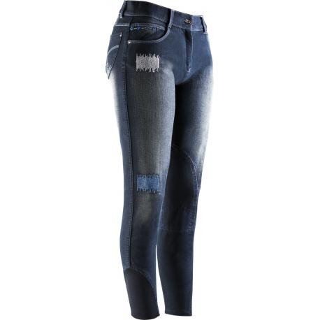 Pantalon Femme Jean Fleur EQUI-TH/ÈME Culotte Equitation