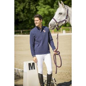 EQUIT'M Piqué katoen polo shirt met lange mouwen
