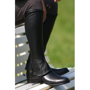 Éric Thomas Waxy leather half-chaps - Adult