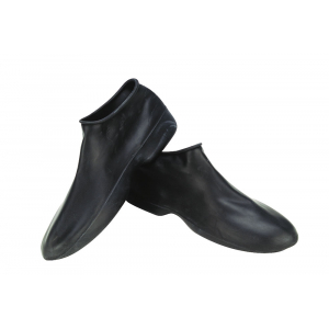 Black rubber overboots