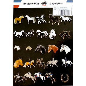 Display cards of 25 horse design pins