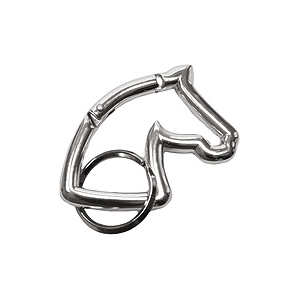 Head horse silhouette key-ring