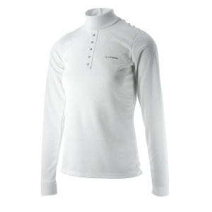 EQUITHÈME Shine Technic competition polo shirt, long sleeves