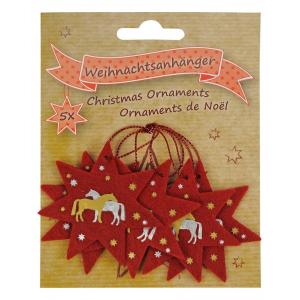 Felt Horses Christmas ornaments