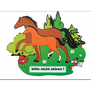 "Doorplate ""Mare and foal"""