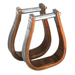 Western stijgbeugels hout/metaal