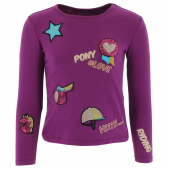 T-shirt Equi-Kids PonyLove à badges - Enfant
