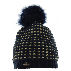 Equit'M Torsades Knitted Bobble Hat