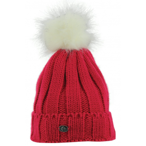EQUITHÈME Knitted Bobble Hat with Rib stitches