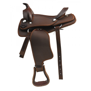 Synthetic western saddle
