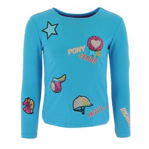 Equi-Kids t-shirt pony love mit applikationen-mädchen