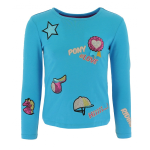 T-shirt Equi-Kids PonyLove with badges - Child