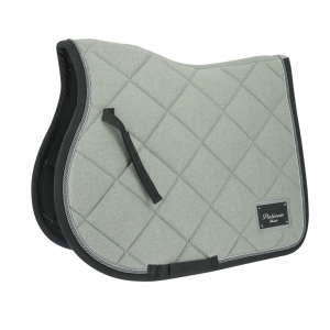 EQUITHÈME Platinium black saddle pad - mixed