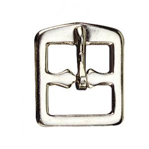 Steigbügelriemenschnalle, Stahl vernickelt