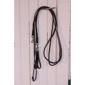 Pénélope Round leather draw reins
