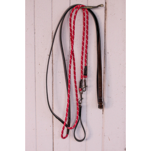 "PENELOPE "" Leather&rope"" Draw reins"