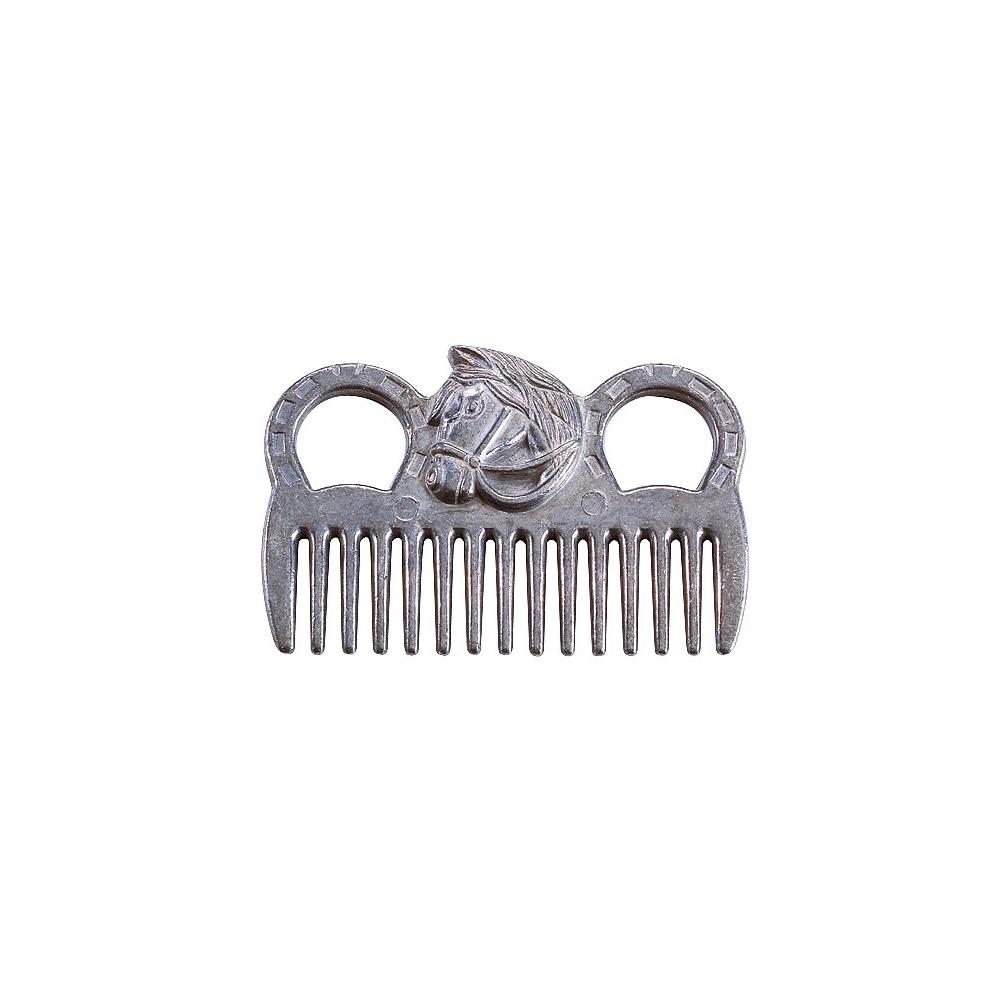 Peigne à queue Hippo-Tonic aluminium tête de cheval