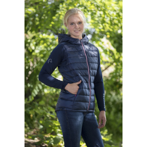 EQUITHÈME Padded waistcoat with hood - Ladies