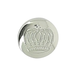 EQUITHÈME Crown Silvery button