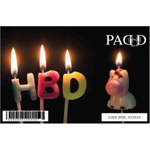 E-Carte Cadeau Happy Birthday