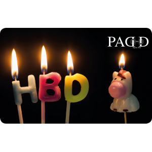 Carte Cadeau Happy Birthday