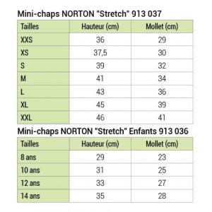 Mini-chaps Norton Stretch - Adulte