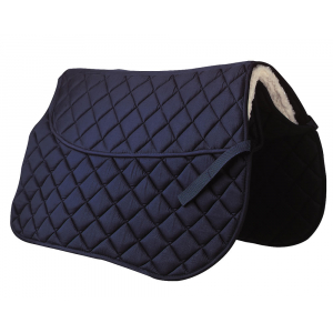 Saddle cloth with back pad pocket
